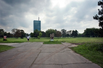 Il parco abbandonato del museo di arte moderna, ad oggi chiuso
