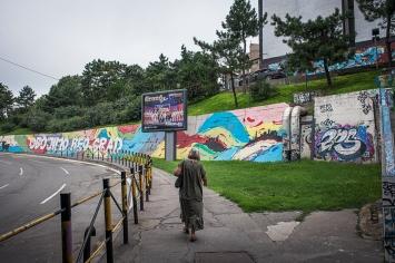 La città è ricca di murales e arte di strada