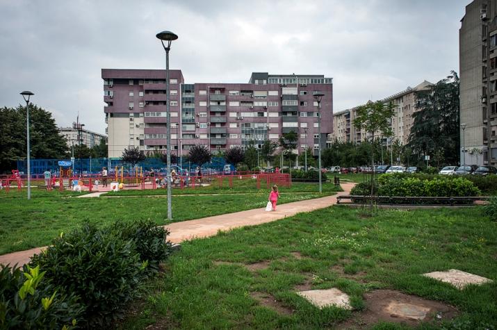 Edilizia popolare nel centro di Novi Beograd