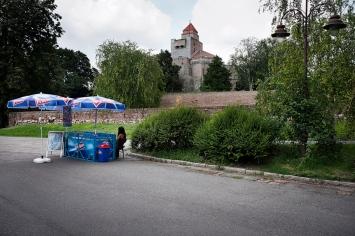 Il piazzale del castello