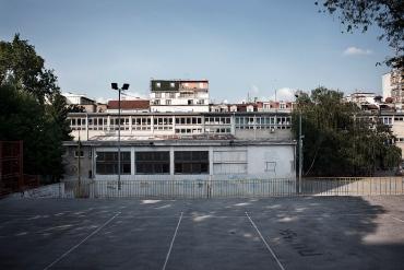 Edificio abbandonato al centro di Belgrado