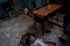 Una scuola al centro dell'Havana vecchia, durante un momento di pausa.