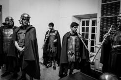 Centurioni partecipano alla processione dei misteri - Obidos