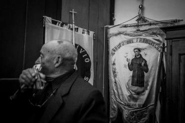Al termine della processione della resurrezione a Castelo de Vide